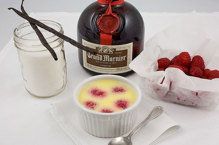 Baked Grand Marnier and Raspberry, Vanilla Custard Cups from La Mia ...