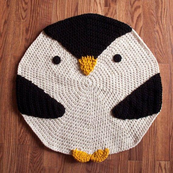 crochet penguin rug  Crochet ideas  Pinterest