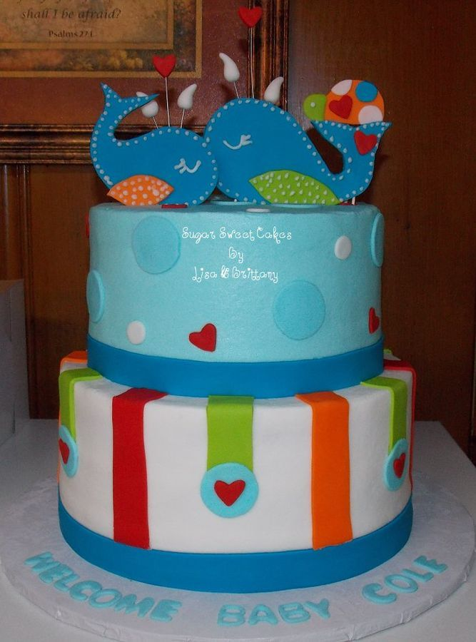 whales baby shower cake creative cakes pinterest