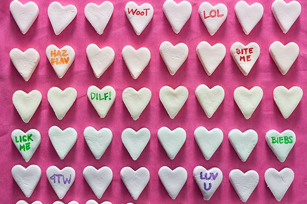DIY Conversation Heart Candy...they're surprisingly easy to make.