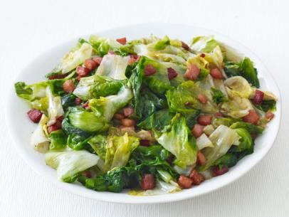 Escarole with Pancetta #Veggies #MyPlate #ItalianInspired
