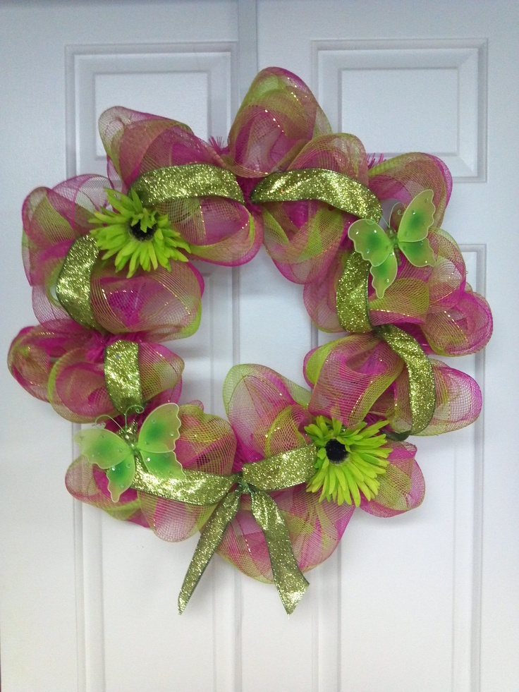 Spring Summer Wreath My Creation Wreath And Decorating