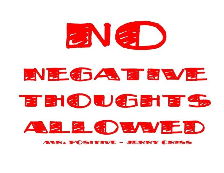 no negative thoughts quotes quotesgram