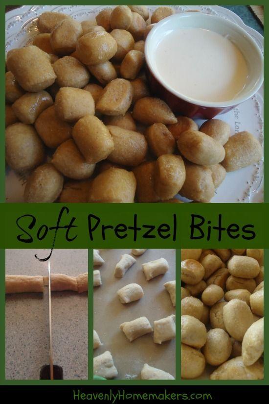 Homemade Soft Pretzel Bites | Food Food | Pinterest