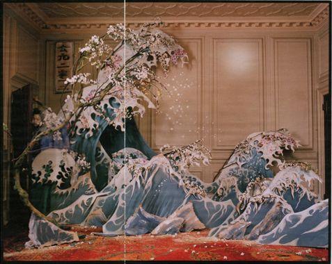 Tim Walker, W, March 2012, Xiao Wen Ju, Shona Heath, Set design, The Year of the Dragon