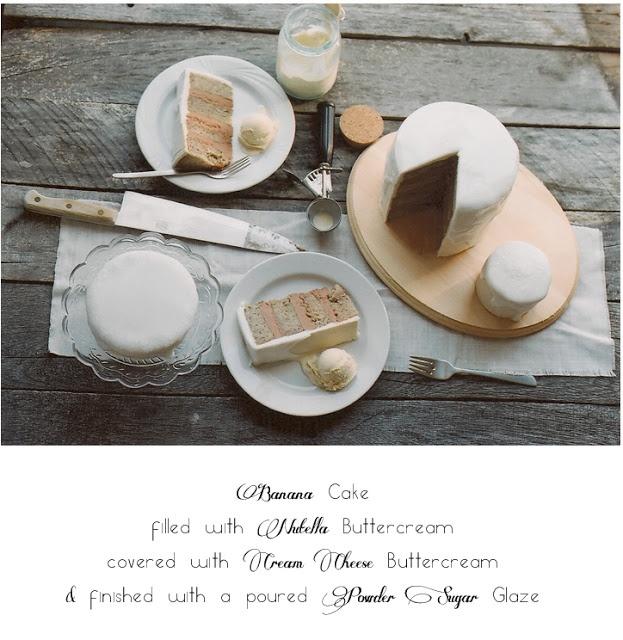banana, nutella and cream cheese cake! | Recipes | Pinterest
