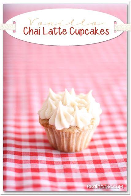 Vanilla Chai Latte Cupcake Recipe | Vanilla | Pinterest