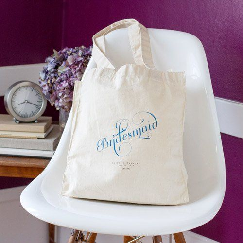 Bridal Shower Bag Ideas : Bridesmaid tote bag. Bridal Shower Party Theme Ideas Pinterest