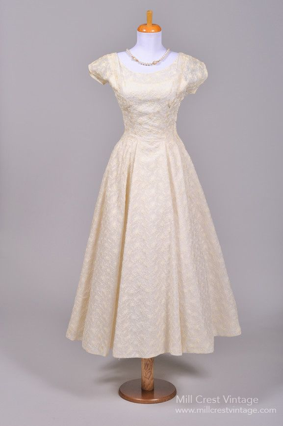 Pin by emily 39 svintagevisions on vintage wedding dresses for Vintage t length wedding dresses
