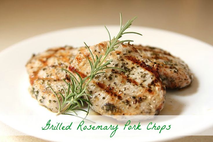 Simple Rosemary Pork Chops {Garden to Plate} |