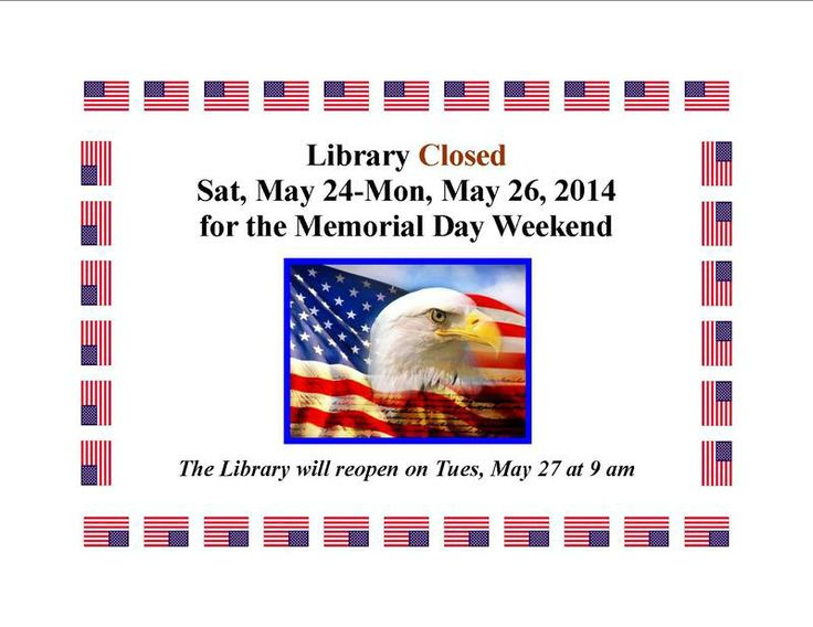 closed for memorial day in spanish