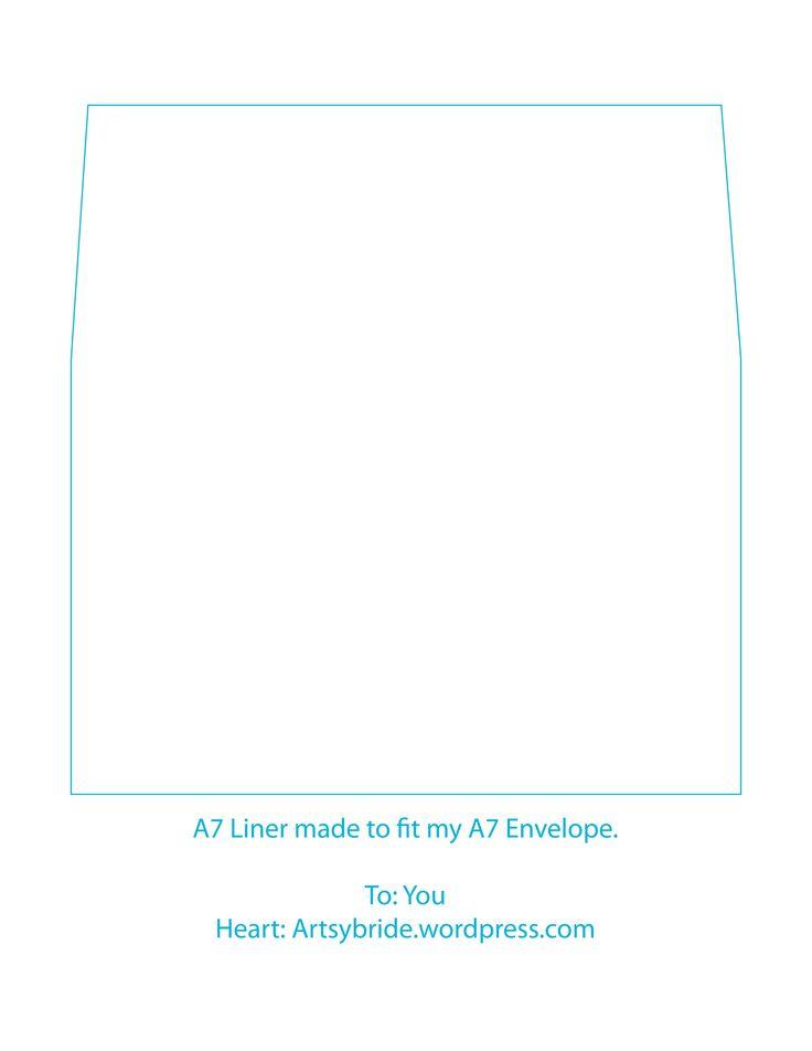 A7 envelope liner template | printables | Pinterest