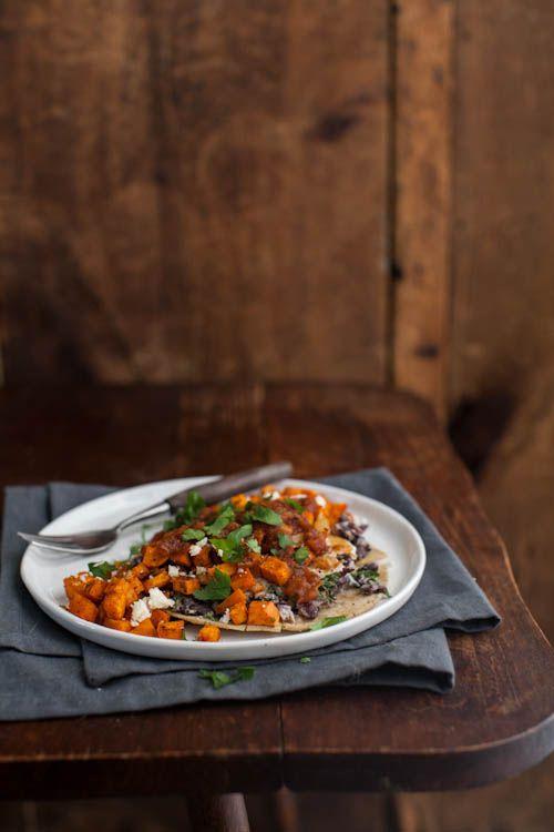 Naturally Ella | Roasted Sweet Potato Huevos Rancheros