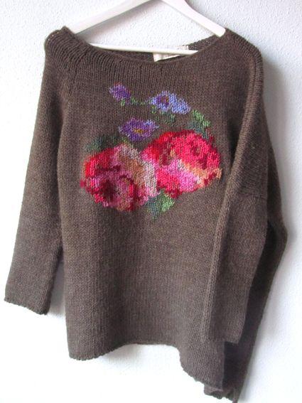 Вышивка на свитер 22