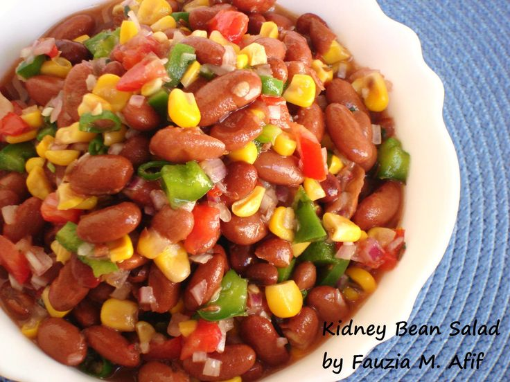Kidney Bean Salad | Fauzia's Kitchen Fun | Sauces,salads,dressings ...