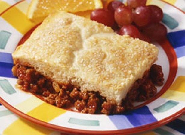 Easy Sloppy Joe Pot Pie - Used Glutenfree Bisquick