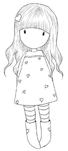 #embroidery pattern: girl