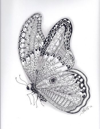 Found on cartoonphotocollections blogspot comZentangles Butterfly