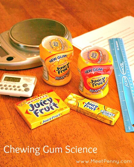 Great ideas for science using chewing and bubble gum includes a free