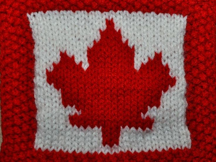 Knit Maple Leaf Pattern Free : Canada-Day-Dishcloth-image-800x600-4553 For the Home Pinterest