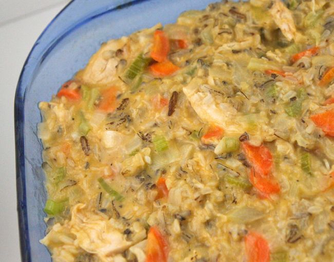 Cheesy chicken and wild rice casserole | Meal Ideas | Pinterest