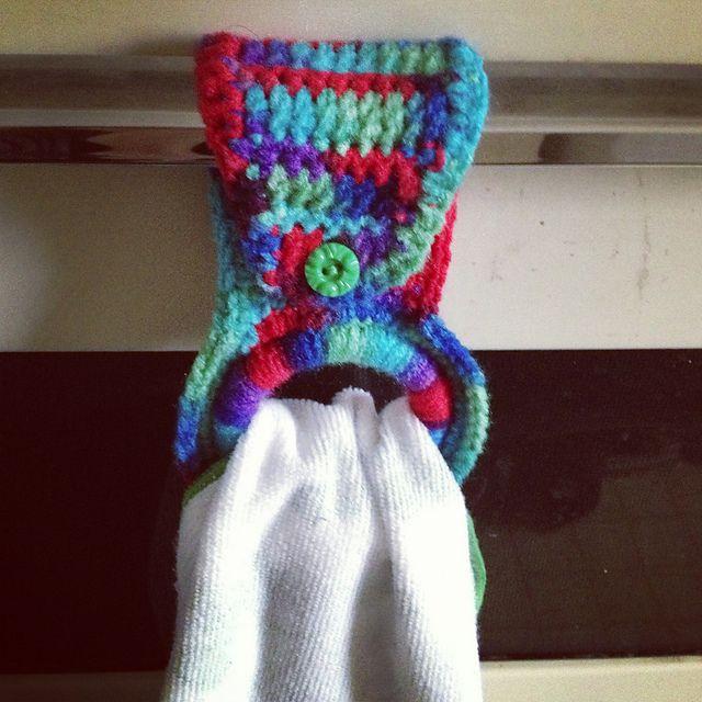 Kitchen towel holder with pattern Craftys Pinterest