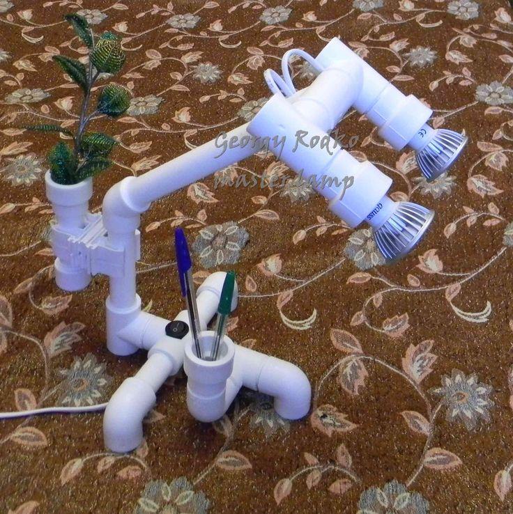 Светильник из полипропиленовых труб своими руками 45