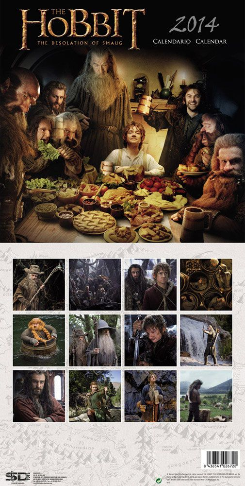 The Hobbit: The Desolation of Smaug 2014 Spanish Calendar