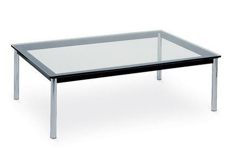 Le Corbusier Lc 10 Rectangular 48 Glass Top Coffee Table