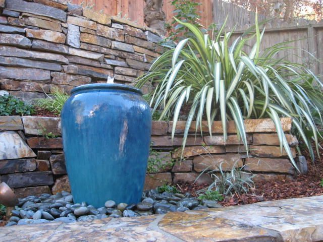 Large Empty Backyard : urn water feature  Urn Fountain  Quiet Space  Pinterest