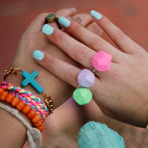 Pastel and Neon Mix