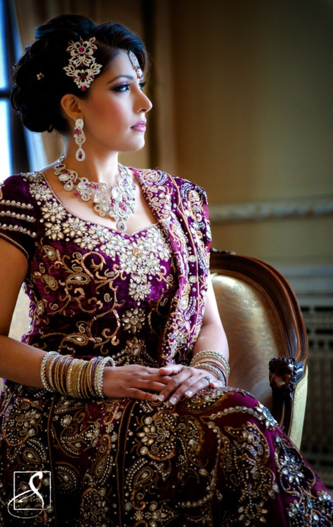 Beautiful purple Indian dress