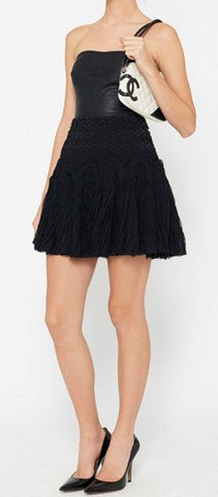 Herve Leger Black Skirt