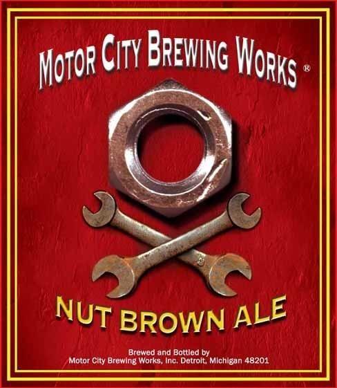 Motor City Brewing Nut Brown Ale Design Packaging