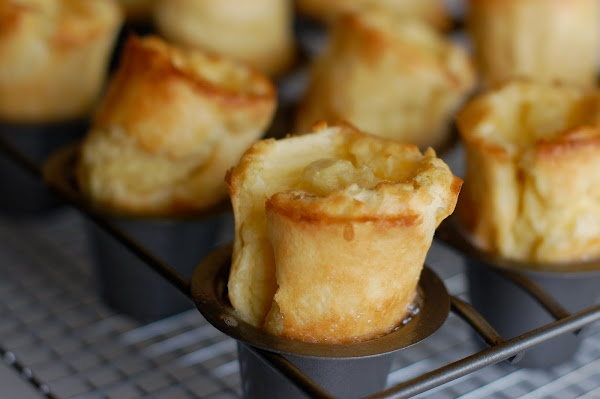 Mini – Popovers 6 TBS (3/4 stick) unsalted butter, melted 6 eggs ...