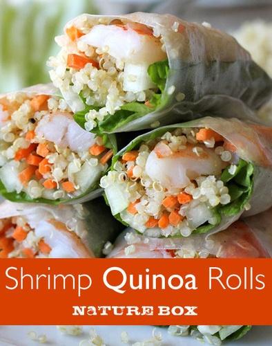 Shrimp Quinoa Rolls. I want to make these pronto!
