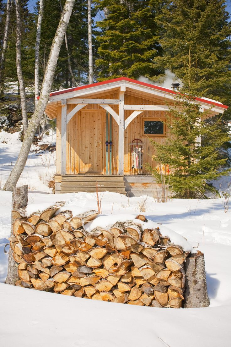Pin by grayce cruden on saunas pinterest for Build a wood burning sauna