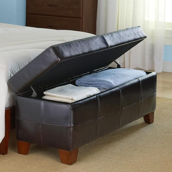 Bedroom storage bench entertainment pinterest Bed bench storage