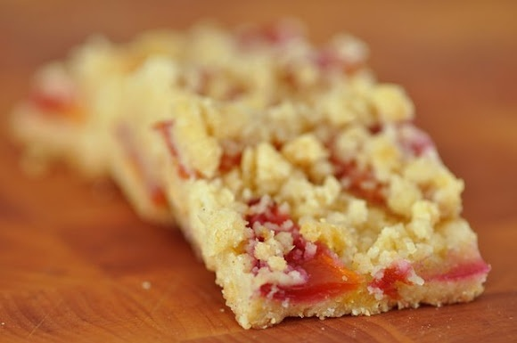 brown butter peach shortbread bars | Bars with Fruit | Pinterest