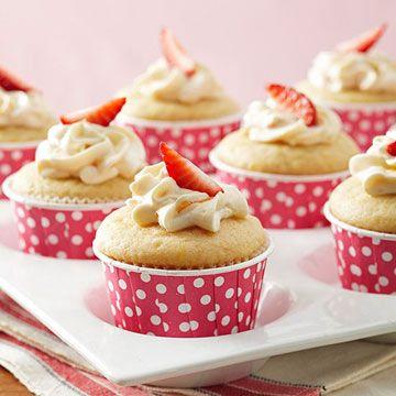 Strawberry-Orange Surprise Cupcakes | Recipe