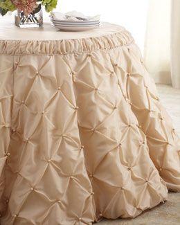 """Tufted"" Tablecloth @ Horchow.com"