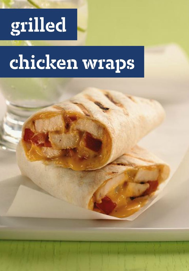 Grilled Chicken Wraps -- Chicken breasts are tossed with Italian ...