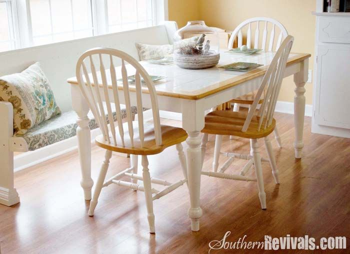 tile top table makeover