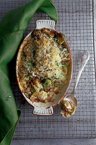 Brussels Sprout Gratin | For the Home | Pinterest
