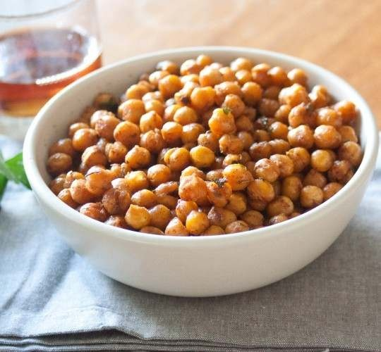 roasted curried chickpeas with rosemary and thyme