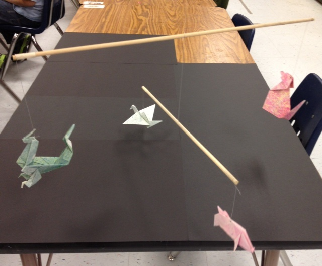 5th grade origami mobile project that goes along with the book