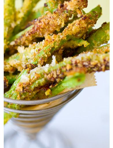 Crispy green bean fries. Vegan. | Appetizers. | Pinterest