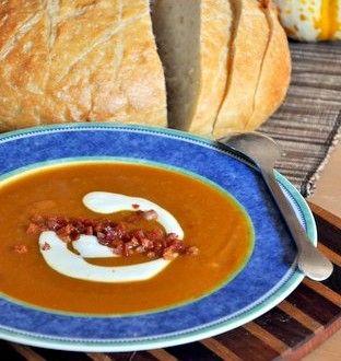 Spiced Pumpkin Soup with crispy pancetta | Winter Food | Pinterest