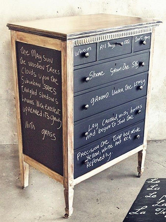 Chalkboard Paint Furniture Home Pinterest
