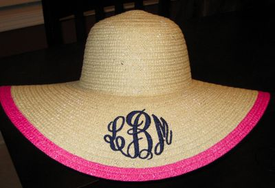 Marley Lilly Derby hat...mine is black w a white ALH monogram!